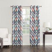 Sun Zero Chevron Thermal Window Curtain