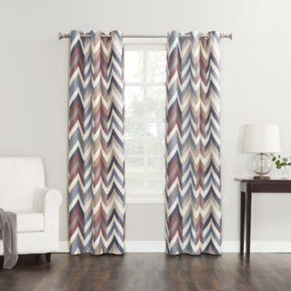 Sun Zero 1-Panel Chevron Thermal Window Curtain