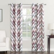 Sun Zero 1-Panel Chevron Thermal Window Curtain