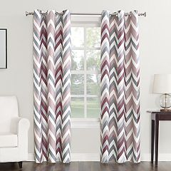 Sun Zero Chevron Thermal Window Curtain