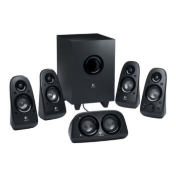 Logitech Z506 5.1 Channel Surround Sound Speakers with Wired Subwoofer