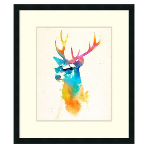 """Sunny Stag"" Framed Wall Art"