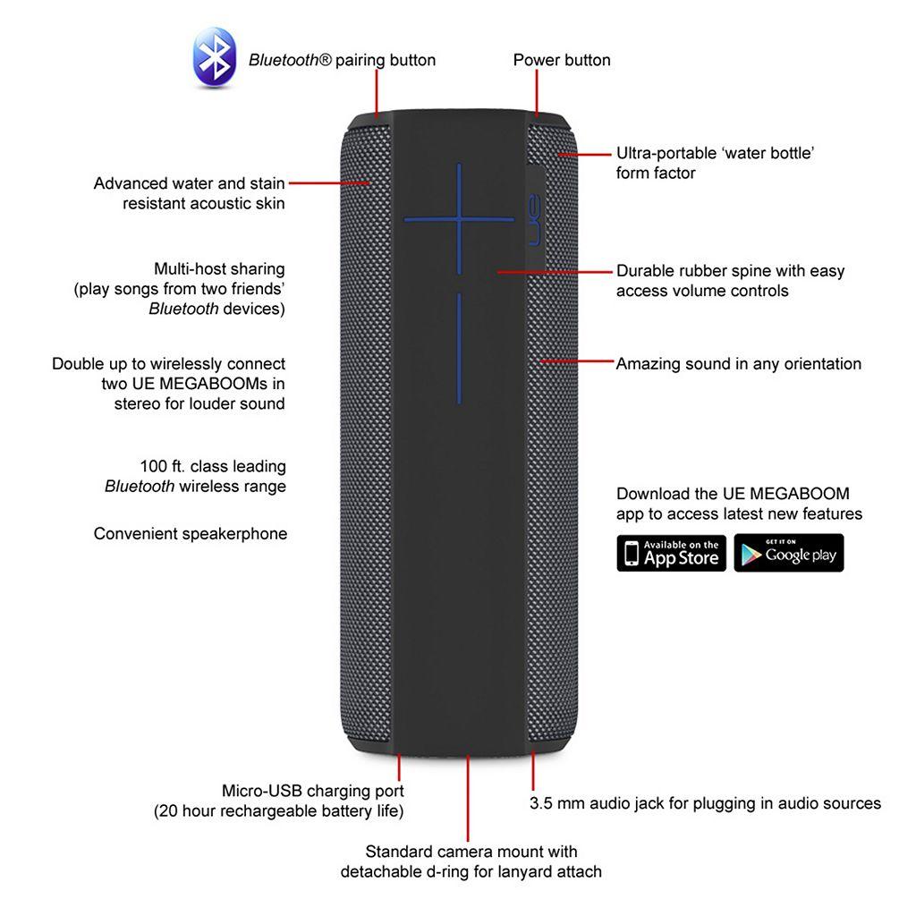 UE Megaboom Bluetooth Wireless Speaker