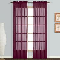 United Window Curtain Co. 2-pack Monte Carlo Voile Curtain Set