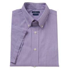 Mens Purple Button Down Collar Dress Shirts Clothing   Kohl's