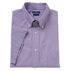 Mens Purple Button Down Collar Dress Shirts Clothing | Kohl's