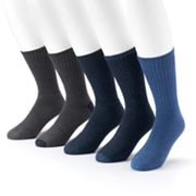 Men's Croft & Barrow® 5-pack Cushioned Crew Socks
