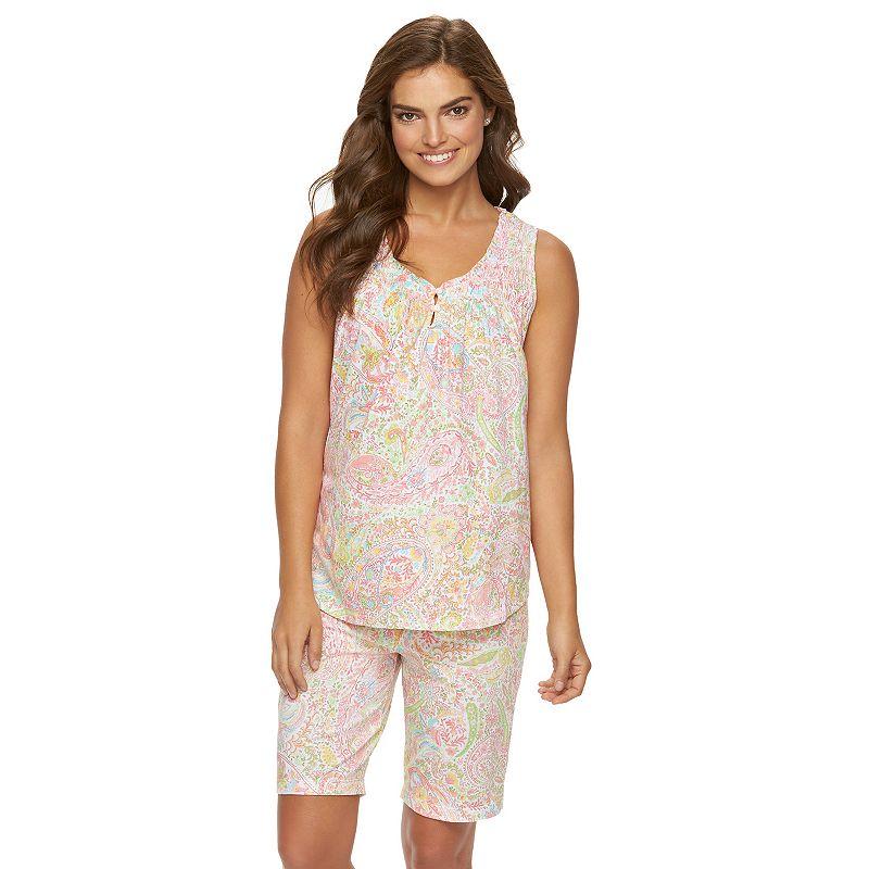 Women's Chaps Pajamas: Shelly Bay Tank & Shorts Pajama Set