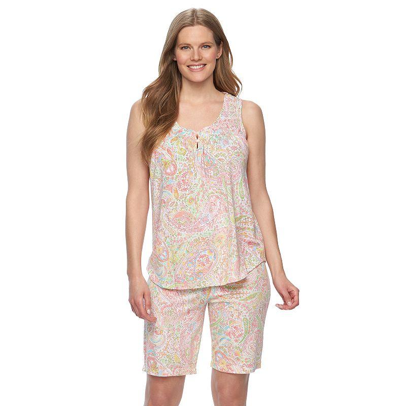 Plus Size Chaps Pajamas: Shelly Bay Tank & Shorts Pajama Set