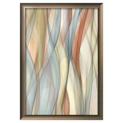 Art.com ''Sheer Taupe and Blue'' Framed Wall Art