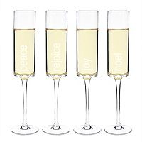 Cathy's Concepts 4 pc Holiday Champagne Flute Set