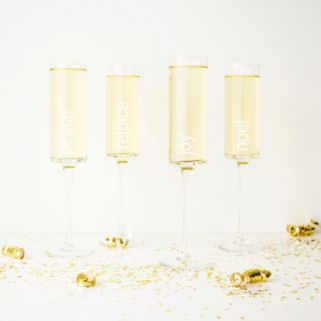 Cathy's Concepts 4-pc. Holiday Champagne Flute Set