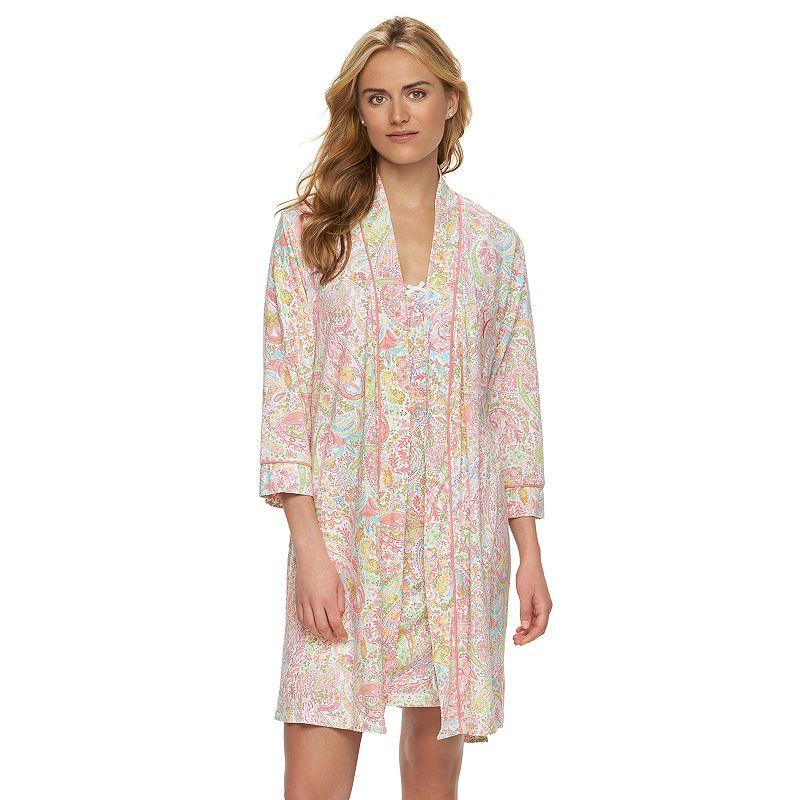 Women's Chaps Pajamas: Shelly Bay Chemise & Wrap Robe Pajama Set