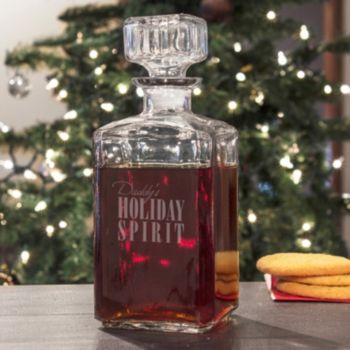 """Cathy's Concepts """"Daddy's Holiday Spirit"""" Decanter"""