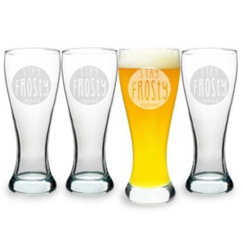 """Cathy's Concepts 4-pc. """"Stay Frosty My Friend"""" Pilsner Glass Set"""