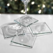 "Cathy's Concepts 4-pc. ""Stay Frosty My Friend"" Glass Coaster Set"
