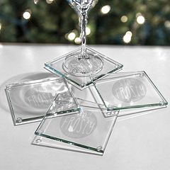 Cathy's Concepts 4-pc. 'Stay Frosty My Friend' Glass Coaster Set
