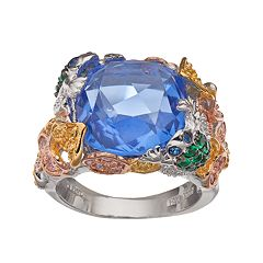 Sophie Miller Sterling Silver Gemstone Cocktail Ring
