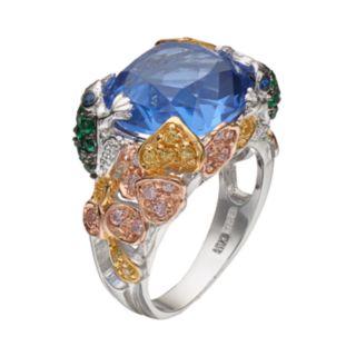 Sophie Miller Sterling Silver Gemstone Cocktail Ring