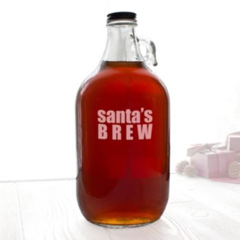 "Cathy's Concepts ""Santa's Brew"" Craft Beer Growler"
