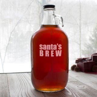 "Cathy's Concepts ""Santa's Brew"" Craft Beer Growler"