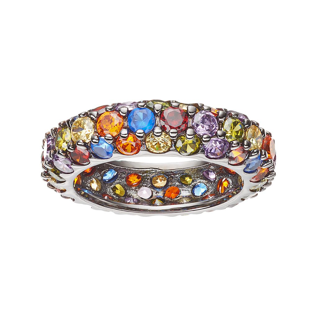 Sophie Miller Lab-Created Blue Spinel & Cubic Zirconia Ring