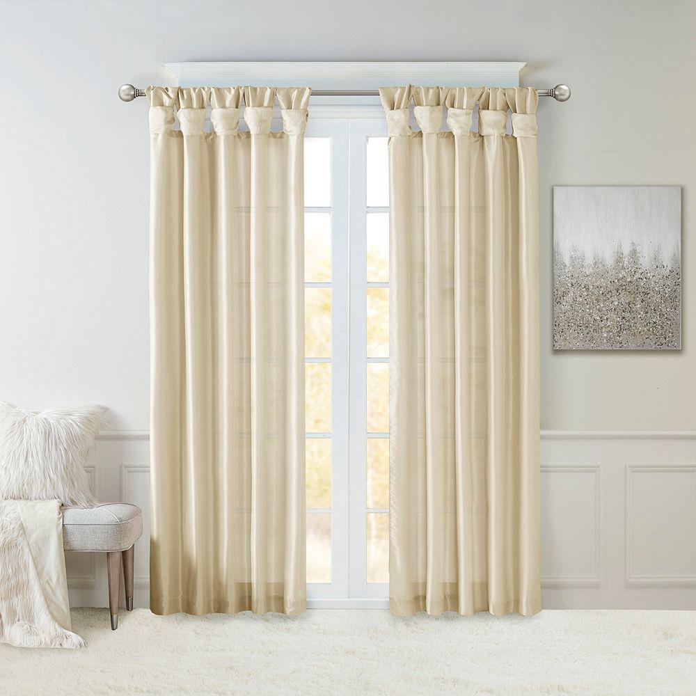 Madison Park Natalie Twisted Tab Lined Window Curtain