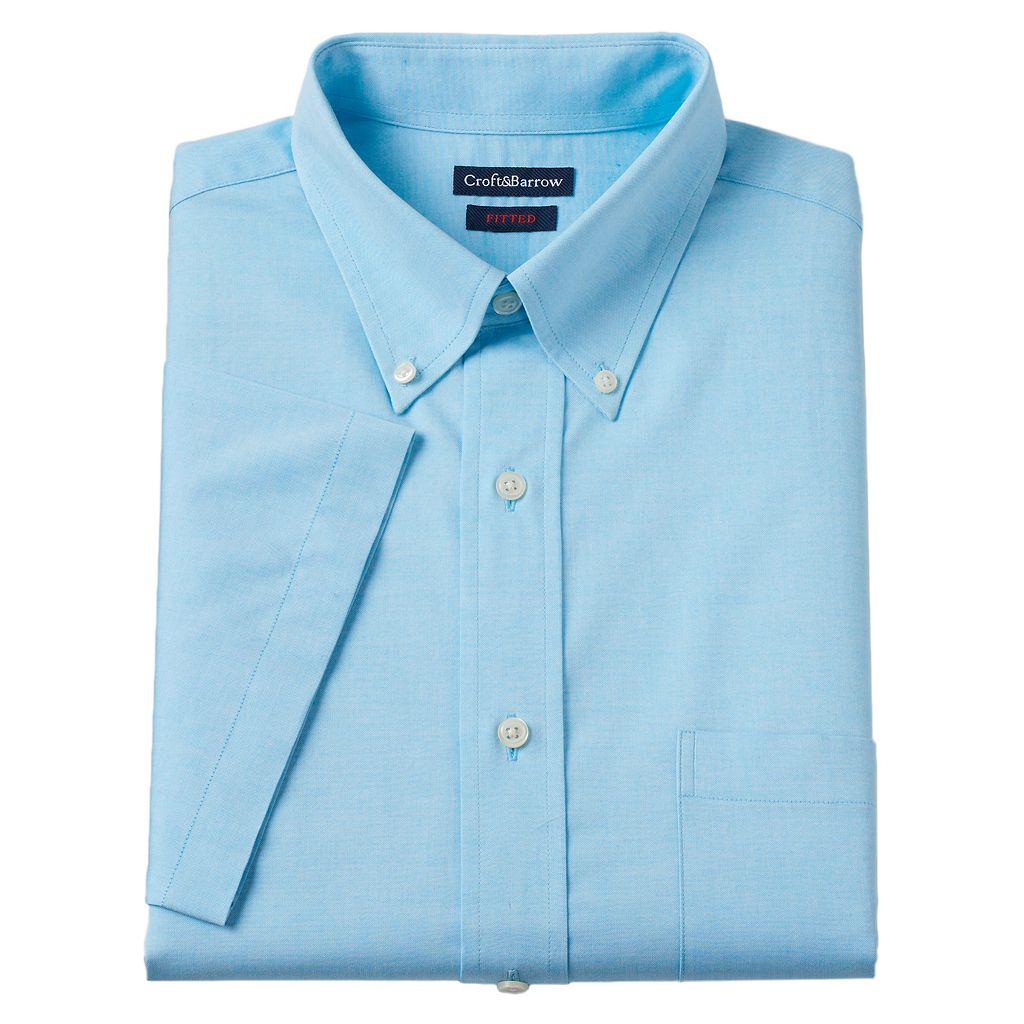 Men's Croft & Barrow® Fitted Button-Down Collar Dress Shirt