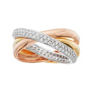 Sophie Miller Cubic Zirconia Triple Interlocking Ring