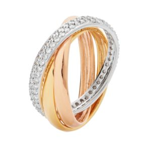 Sophie Miller Cubic Zirconia Triple Interlocking Ring