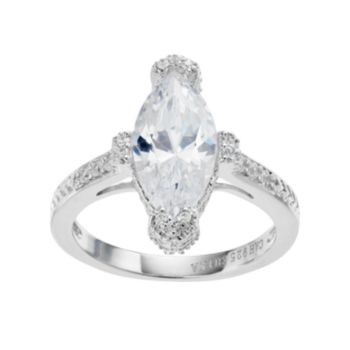 Sophie Miller Sterling Silver Cubic Zirconia Ring