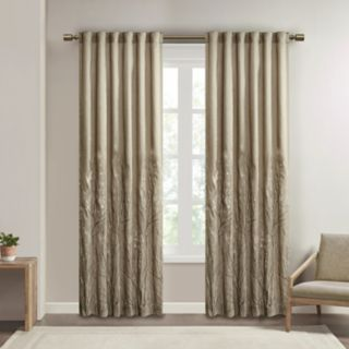 Madison Park 1-Panel Eliza Embroidered Window Curtain