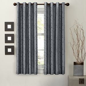 Light to Night 1-Panel Jardin Embroidered Thermal Window Curtain