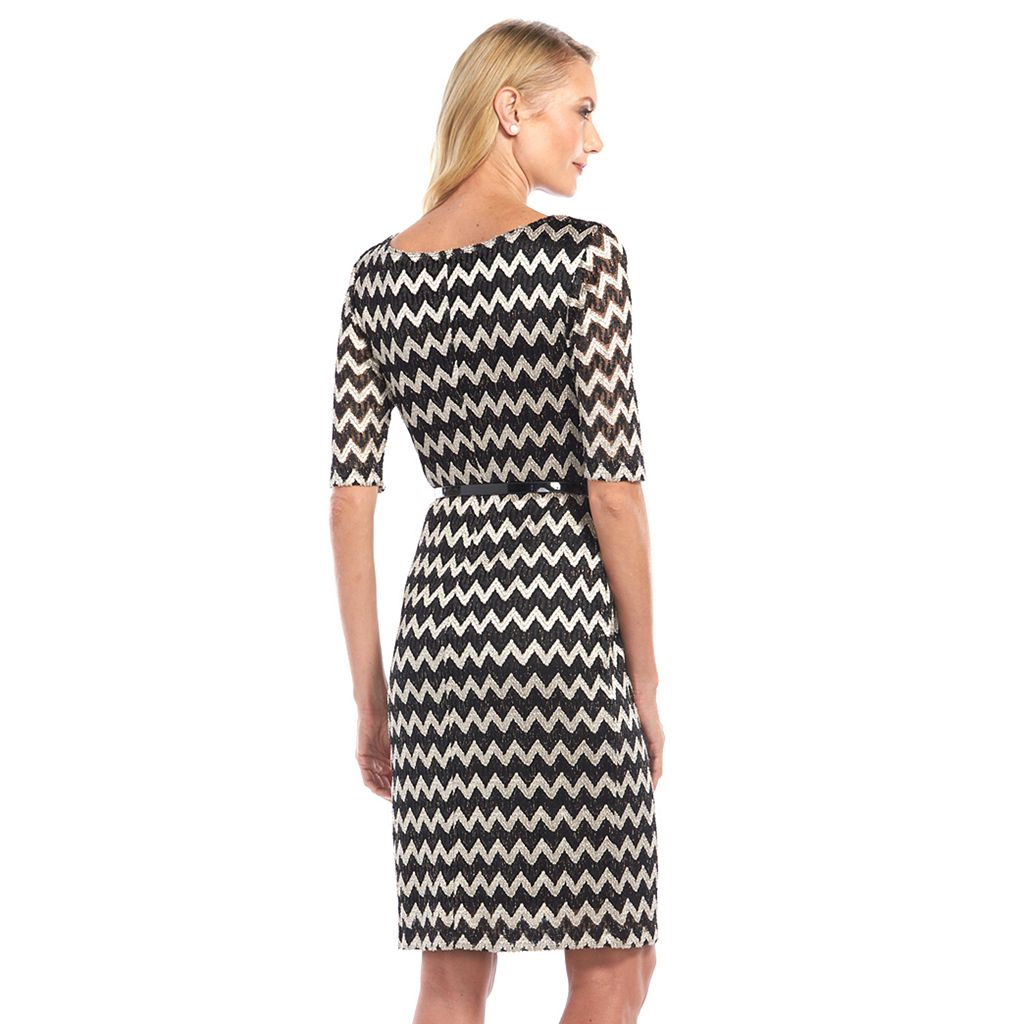 Connected Apparel Zigzag Lace Dress - Women's