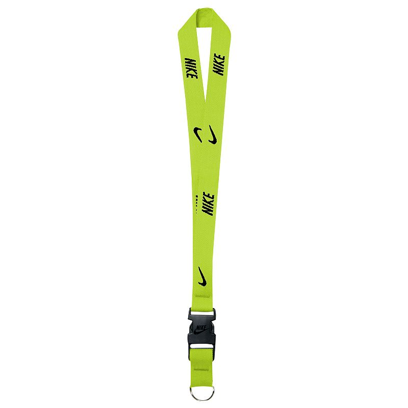 Nike Lanyard, Men's, Black Always keep your keys close with this Nike lanyard. Quick release, detachable clip with key ring Logo accents Fabric & Care Polyester, metal Machine wash Imported 34-in. circumference Size: Onesize. Color: Black. Gender: Male. Age Group: Adult.