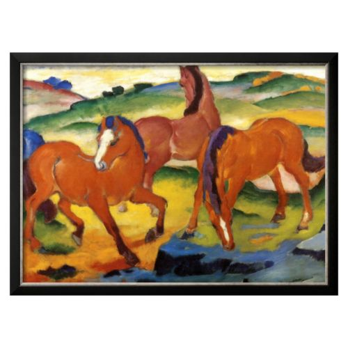 "Art.com ""The Large Red Horses, 1911"" Framed Wall Art by Franz Marc"