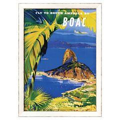 Art.com ''Fly to South America by BOAC'' Framed Wall Art