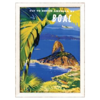 Art.com ''Fly to South America by BOAC'' Framed Wall Art
