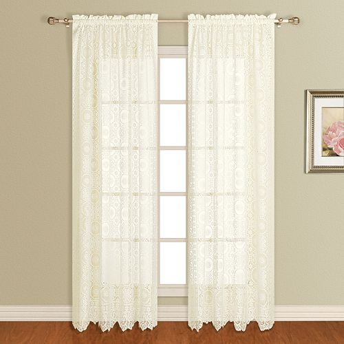 United Curtain Co. Rochelle Lace Window Panel