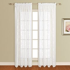 United Curtain Co. 1-Panel  Rochelle Lace Window Panel