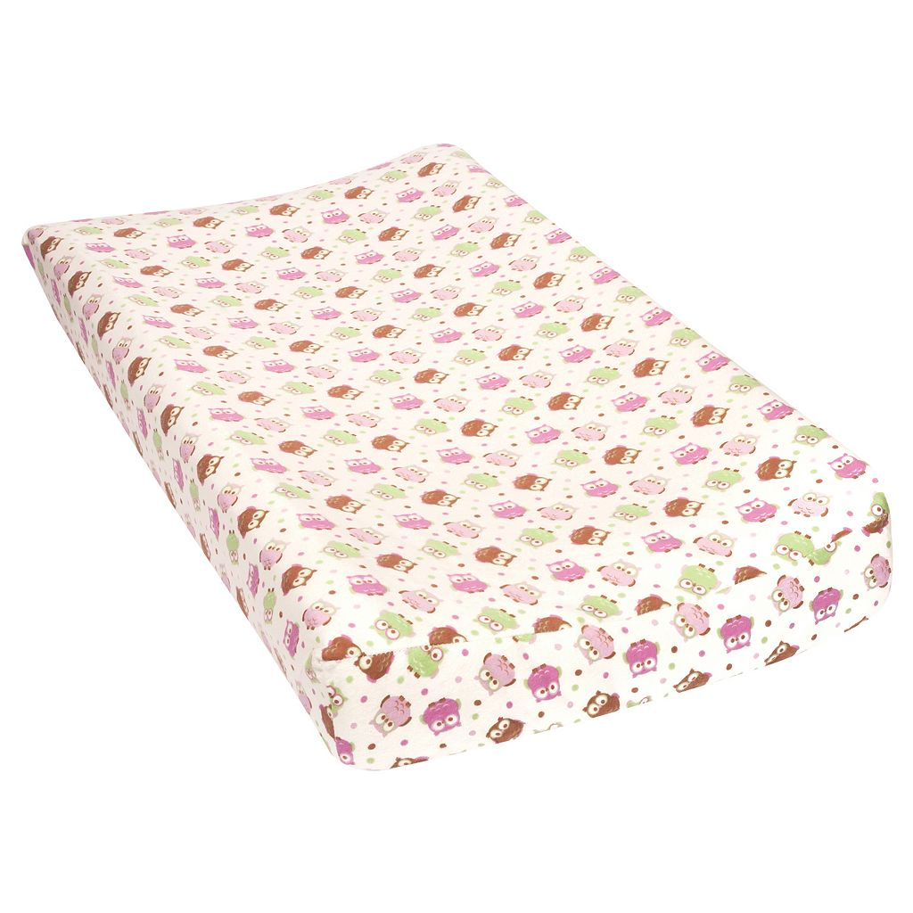 Trend Lab Owl Flannel Changing Pad Cover