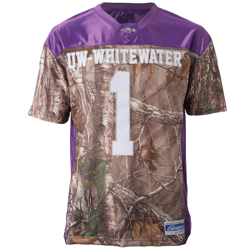 Men's UW-Whitewater Warhawks Game Day Realtree Camo Jersey