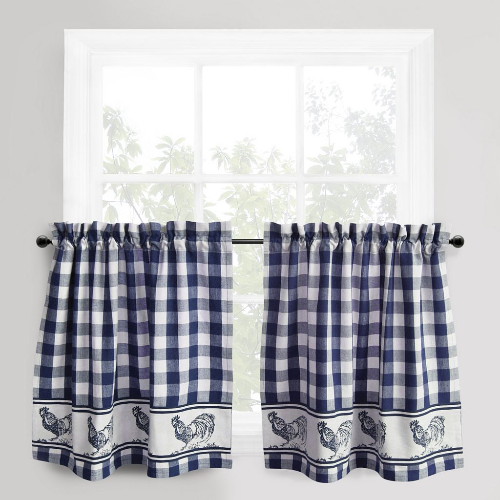 Park B. Smith Provencal Rooster Tier Kitchen Window Curtain Set