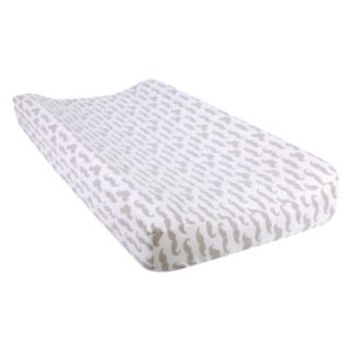 Trend Lab Mustache Flannel Changing Pad Cover