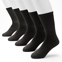 Big & Tall Croft & Barrow® 5-pack Cushioned Crew Socks