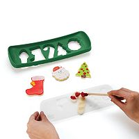 Chef'n Cookease Christmas Cookie Cutter & Stencil Set