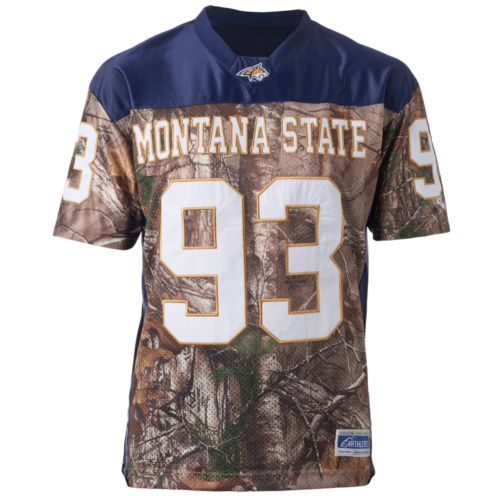 Men's Montana State Bobcats Game Day Realtree Camo Jersey