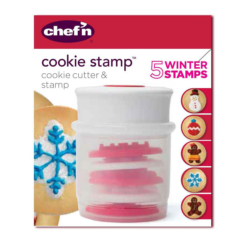 Chef'n Christmas Cookie Cutter Stamp Set