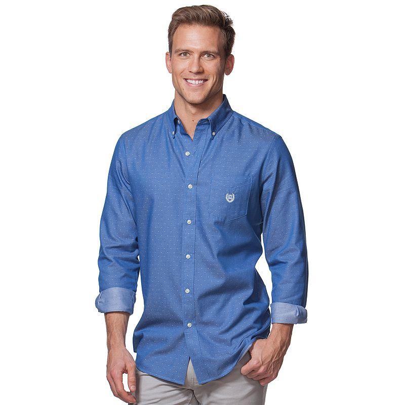 Men's Chaps Plaid Twill Button-Front Shirt
