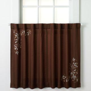 CHF Scroll Leaf Tier Curtain Pair